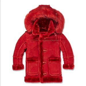 Jordan Craig Kids Denali Suede & Shearling Coat